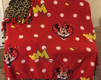Minnie Mouse and Leopard blanket