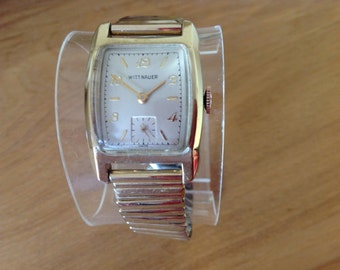 Fabulous Longines-Wittnauer 1960s Gold Plated Men's Watch