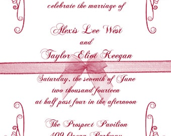 Scroll Border Wedding Invitation