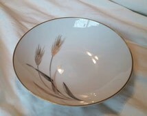 On Sale Sango Fine China 7 inch Autumn Gold Serving Coupe Bowl Made in Japan Wheat Pattern with Gold Rim