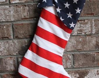 Patriotic Christmas stocking