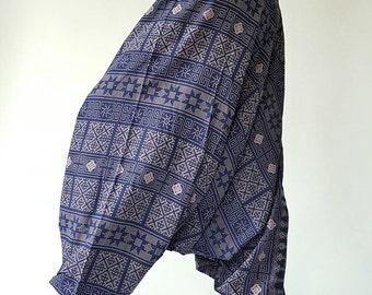 Thai Lanna Harem pants  Handmade pants, Thick Smock Waist Low Crotch