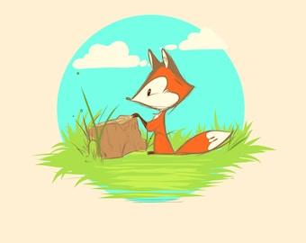 Regular Print - Fox