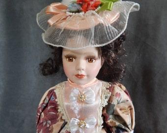 Vintage Victorian Style Porcelian Doll
