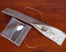 E-Cig Case, Electronic Cigarette Case, Vape Case, Leather E Cig Case, Handstitched (ref96), Free Shipping within Australia