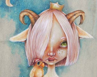 Wild Thing - giclee print from original lowbrow painting