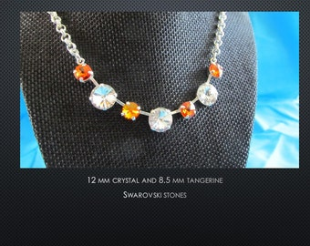 Swarovski Crystal and Tangerine Necklace