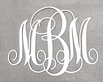 """Personalized Monogram Sign 23""""H x30""""W, Custom Monogram Sign, Large Wooden Sign, Initials Sign, Wood Sign, Letters"""