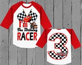 Disney Cars Birthday Shirt - Double Sided - Cars Birthday Shirt