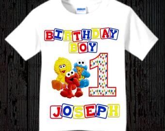 Sesame Street First Birthday Shirt