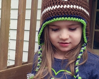 Seahawks inspired football hat