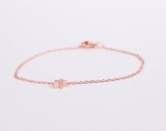 Bracelet Rosegold Star Chain Plated Starlet Gold Plated Bracelet Chain Rosegold Plated