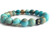 Initial bracelet, Name bracelet, letter bracelet, Bead bracelet, personalized bracelet, elastic bead bracelet, women's bead bracelet