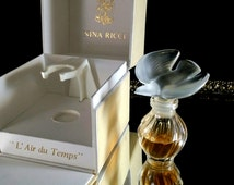 Nina Ricci Lalique Perfume Bottle Complete Presentation Vintage Nina Ricci Lalique Vintage Perfume Paris Crystal Bottle Unused Perfumes