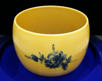West Germany Bracelet Extra Wide Vintage Bangle Yellow Blue Painted Transfer