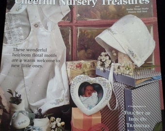 Silk Ribbon Embroidery pattern booklet Bucilla Cheerful Nursery Treasures