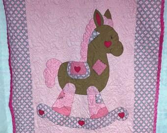 "Rocking Horse Quilt 45"" x 59"" (Custom Made)"