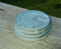 Vintage Zinc Canning Jar Lids, Canning Lids, Zinc Jar Lids, Antique Lids, Glass inserts