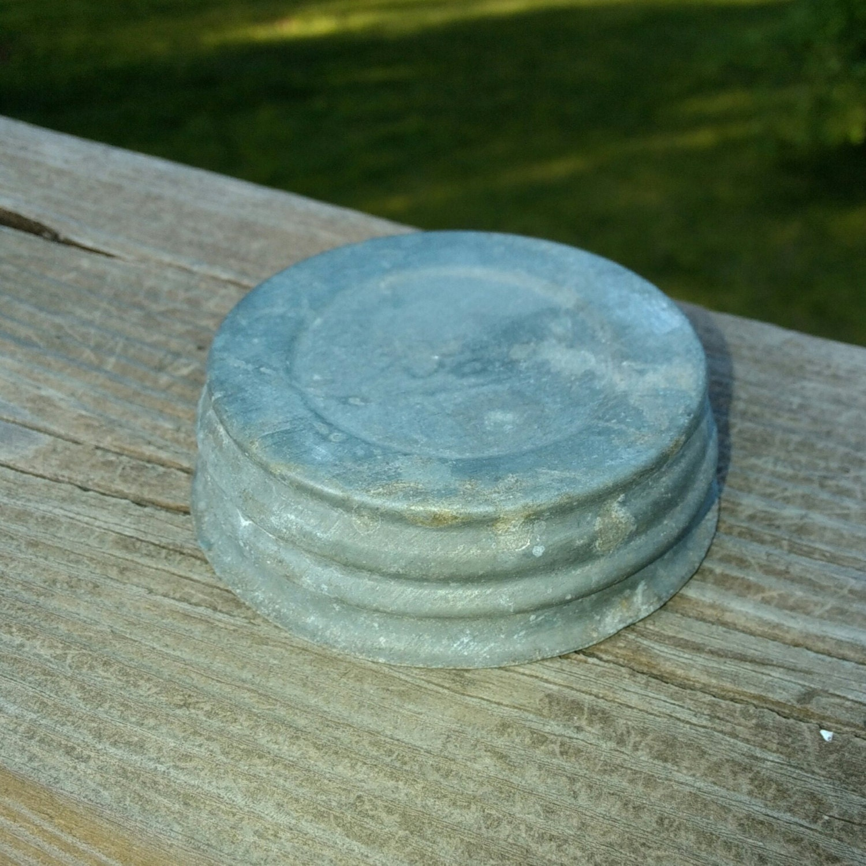 one vintage zinc canning jar lid canning lid zinc jar lid. Black Bedroom Furniture Sets. Home Design Ideas