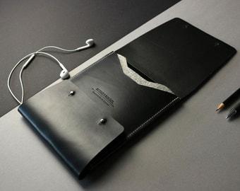 "Elegant Sleeve for iPad Air-Pro 9,7"" of premium leather [BL]"