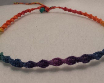 Rainbow Hemp Necklace - Hemp Jewelry