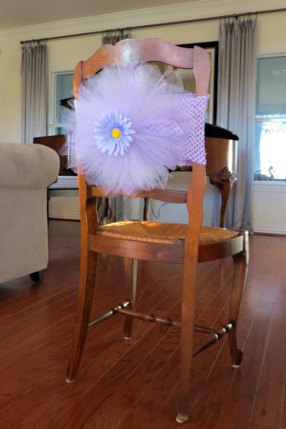 tulle chair cover tutu burst for bridal shower baby shower