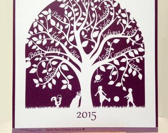 Family Tree Paper cut, home decor, including hobbies