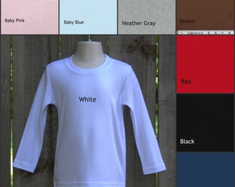 UPGRADE from t-shirt to long sleeve plain shirt