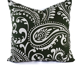 Black White And Green Throw Pillows : CLEARANCE Decorative Pillow Cover Jade Green Black and White