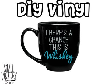 Whiskey Glass Decal Etsy - Diy vinyl decals for wine glasses