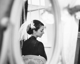 Wedding Hair Piece Bridal Headpiece Wedding Headpiece Fascinator Lace Headpiece Hair Clip  Flower Headpiece  Wedding Hair Flower - EMILY