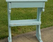 Rugged-Primitive Table/Original paint- Distressed- Light Blue at Ancient of Daze