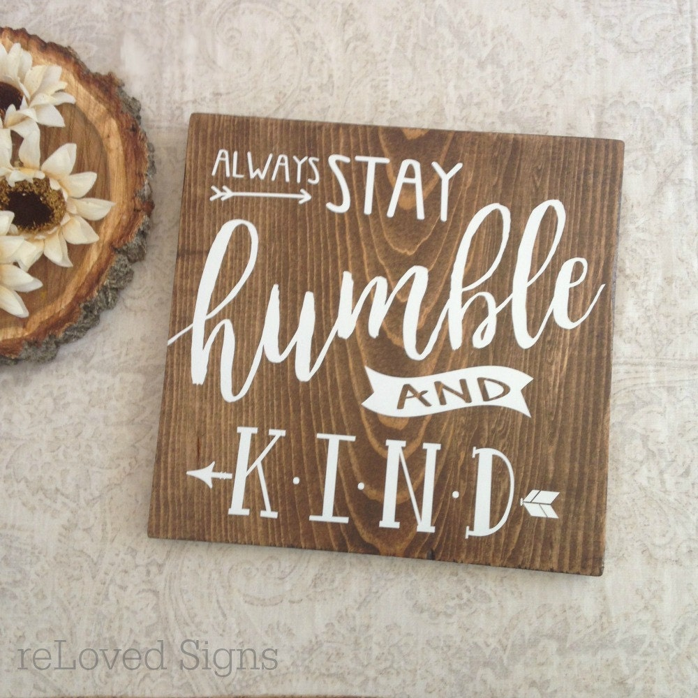 Wooden Signs Home Decor: Humble And Kind Lyrics / Wooden Sign / Home Decor / Tim McGraw