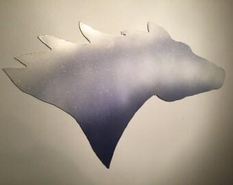 Silver galvanized horse head