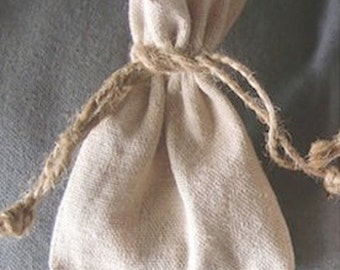 "5"" x 7"" Linen Bag - Package of 12"