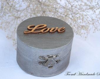 Wedding Ring Box, Ring Bearer Box, Ring Holder, Ring Pillow