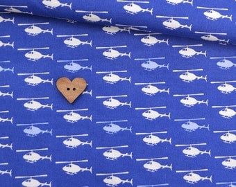 Sevenberry - Blue Helicopters 100% cotton