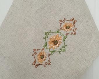 Linen Dish Towel Tea Towel Kitchen Decor Embroidery