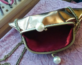 Gold formal purse/clutch