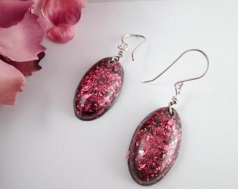 resin and glitter earrings women's earrings ladies jewelry ladies earrings dangle earrings resin earrings in dangle earrings gift for her