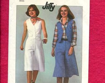 1978 Simplicity 8013 Gauchos & Vest Western Retro Classics Size 12