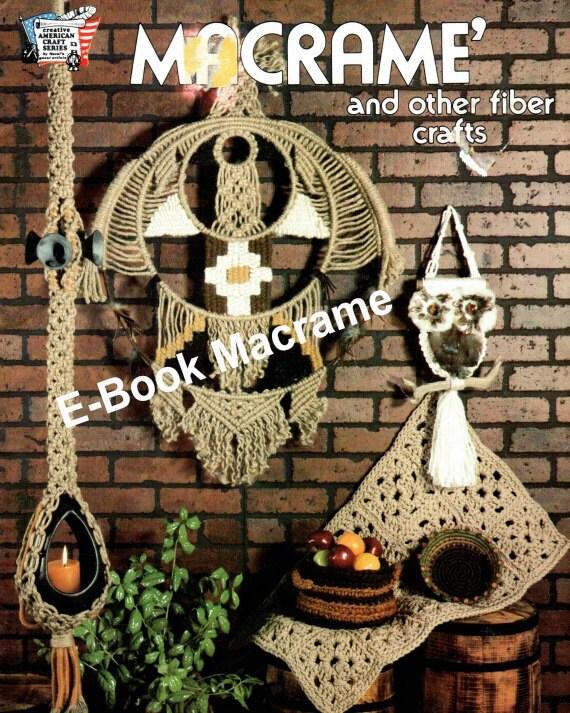 EBook Vintage 1977 Macrame and Crochet Jute Knot Tying Bohemian Hippie Digital Download