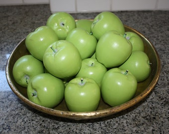 Granny Smith Apples 1 Doz Hand-Carved Wood