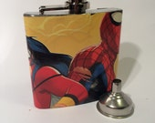 Spider-Man and Spider-Woman Hip Flask
