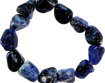 Sodalite Tumbled Stone Bracelet - Improve Communication