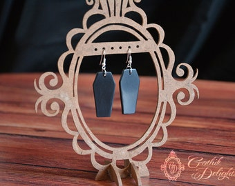 Coffing Earring made of polymer clay - Elegant and Clean!
