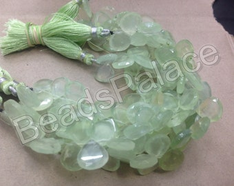Prehnite  Heart shape Briolettes, 12 pieces   11-11 mm           AAA quality