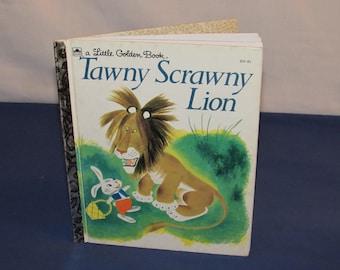 Little Golden Book TAWNY SCRAWNY LION 1995