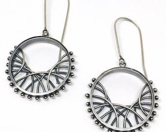 Wave Arc Earrings