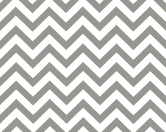 Indoor / Outdoor Weather Resistant Fabric By The Yard - Premier Prints Gray / Grey White Chevron / Zig Zag